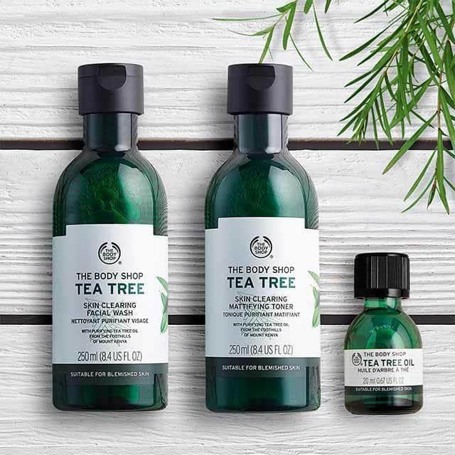 Découvre la gamme Tea Tree de chez The Body Shop