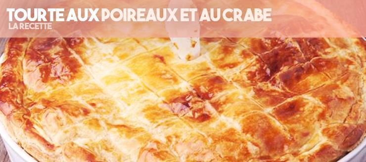 Tourte aux Poireaux et au Crabe