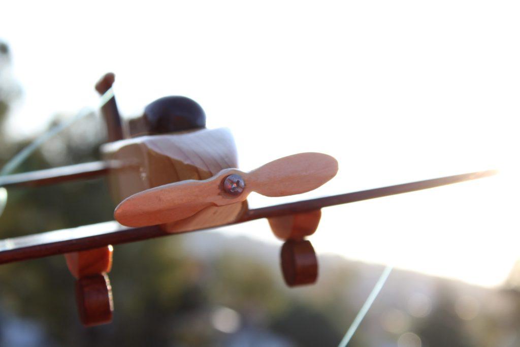 Travailler dans une structure spécialisée - avion en bois