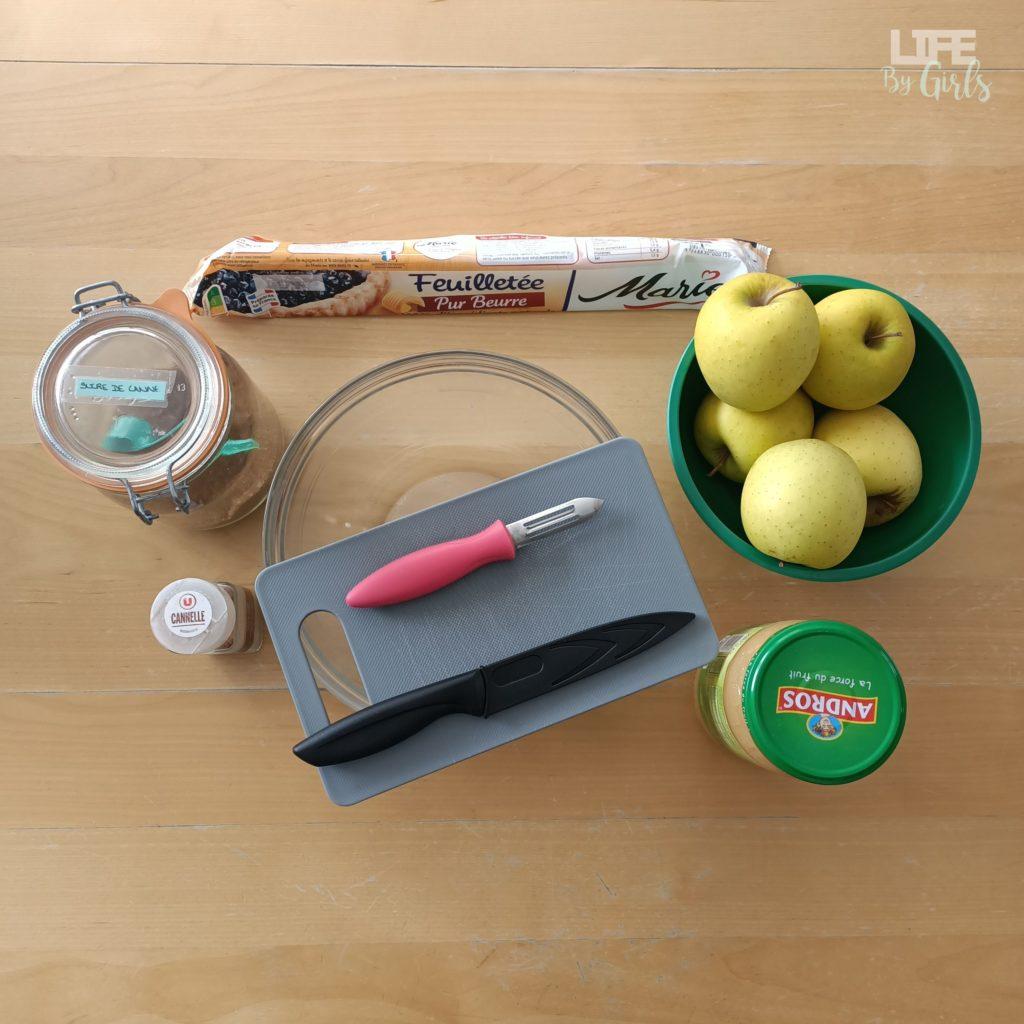 Tarte aux pommes - ingrédients