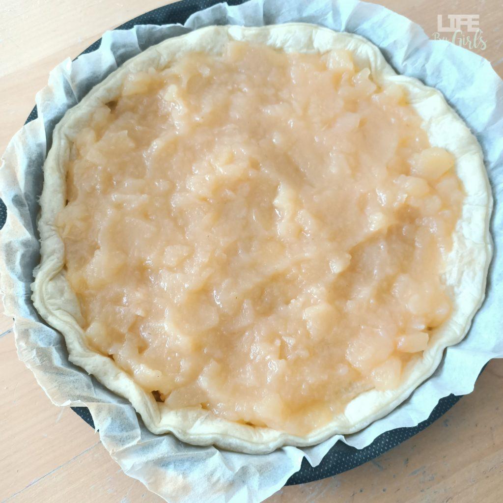 Tarte aux pommes -compote